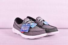Women's Skechers 15433/BKW Go Walk Lite-Isla Boat Shoes, Black White, 8.5M