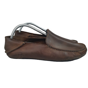 Sperry Top Sider Loafers Mens 8.5 M Brown Leather Casual Slip On