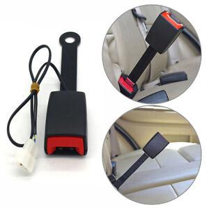 Universal Car Front Seat Belt Buckle Socket Plug Connector & Warning Cable Kit