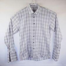 Mens Calvin Klein L/S Shirt Size XL 43 92 Slim Fit French Cuffs Easy Iron Cotton