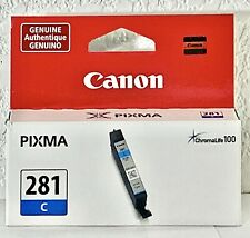 CANON Pixma CLI-281 C Cyan Blue Ink Genuine NEW Sealed Cartridge