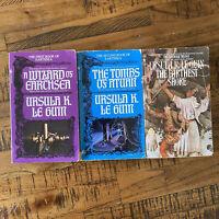 EsrthSea Trilogy Set Books 1-3 Set  (1984) Ursula Le Guin Atheneum 062