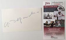 Gerard Depardieu Signed Autographed 3x5 Card JSA Certified