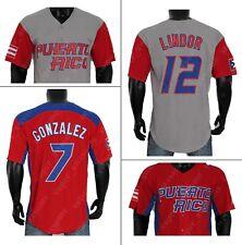 2007 Lindo Javier Baez Molina Rodriguez Cora Correa Puerto Rico Baseball Jersey