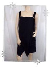 Superbe Robe Tunique Fantaisie à Bretelles Noire Christian Marry Taille 50