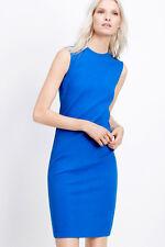 NWT $325 VINCE Women's Blue Textured Ponte Sleeveless KNIT Dress SZ S (US2)