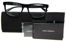 NEW D&G Dolce&Gabbana DG 3257 501 SHINY BLACK EYEGLASSES FRAME 54-19-145mm Italy