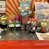 Kidrobot Simpsons Zombie Family Series 2 + 6 Inch + 1 Of 1 Custom RARE