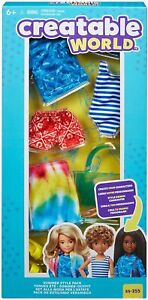 Mattel Creatable World - Summer Style Pack. Unisex Doll Clothes & Accessories.