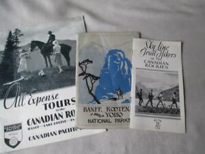3 VINTAGE 1930's CANADA TRAVEL BROCHURES - CANANDIAN PACIFIC