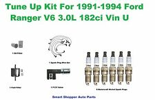 Tune Up Kit for 91-94 Ford Ranger V6 3.0L Vin U spark Plug Wire Set Oil Filter