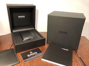 New! Genuine RADO Switzerland Watch Presentation Box Black