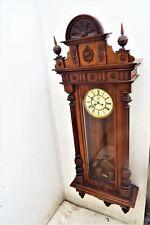 Huge Vienna rare maker movement mahogany cased