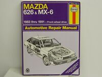 HAYNES Repair Manual MAZDA 626 and MX-6 FWD 1983 To 1991 Good Condition\
