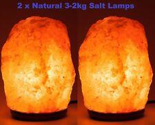 2 X 2-3 Kg Himalayan Pink Salt Rock Crystal Lamp Natural Healing Ionising Lamps