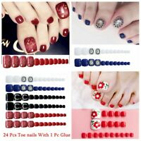 False Nail Tips With Glue Rhinestone Toe Nails Nail Art Patch Manicure Tool