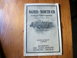 1909 BAIRD-NORTH CO GOLD and SILVER JEWELRY+++ CATALOG-32 PAGES