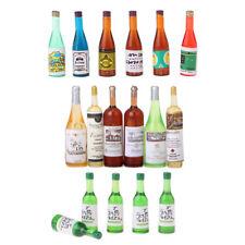 Miniature Bottles Wine Bottles Drink Bottles Model For 1/12 Dollhouse Decor