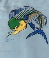 Hook & Tackle Limited Edition Embroidered Fishing Shirt XL -Mint