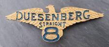 RARE 1920's Duesenberg Straight 8 Emblem/Badge Brass Era Porcelain/Enamel Crest