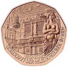 5 EURO AUTRICHE 2012 UNC - BICENTENAIRE DE LA SOCIETE PHILHARMONIQUE DE VIENNE