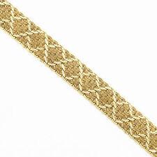 "NYJEWEL 14k Solid Gold Italy "" X "" Mesh Heavy Bracelet 47 grams!!"
