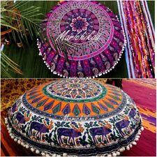 Set Of 2 Round Mandala Floor Cushion Cover Bohemian Decorative Pillow 82 Cm's