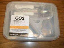 Thinksport Go2 Airtight Travel Lunch Container, Blue, Plate Spoon Fork