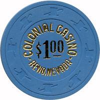 1978 Colonial Casino $1 Reno, Nevada NV Casino Chip New Condition