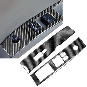 Interior Carbon Fiber Window Lift Switch Panel Cover Trim Fit Nissan 350Z 06-09