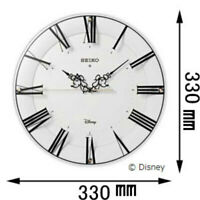 SEIKO Disney White Wall clock Swarovski Crystal Mickey Minnie FS511P New