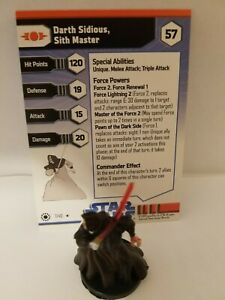 Star Wars Miniatures Darth Sidious Sith Master Sith Team Builder