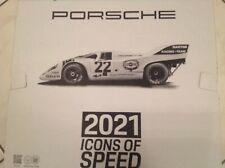 Porsche Wandkalender 2021 OVP mit Sammlermünze