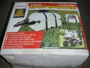 ATV UTV Spot Sprayer Lawn Garden Farm 12v Fertilizer Broadcast 9 Gallon Tractor