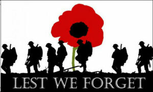 LEST WE FORGET FLAG LARGE 5 x 3 Foot New WW1 WW2 Poppy Remembrance November