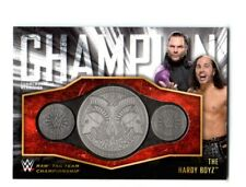 WWE The Hardy Boyz 2018 Topps Tag Team Title Belt Plate Relic Card SN 48 of 299