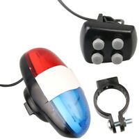 4 Loud Siren Sound Bicycle Bike Flash Light Horn Bell Electronic Horn Siren