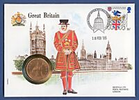 Numisbrief UN Great Britain Großbritannien 1 Penny 1967 Stempel 1985 NB-A16/18