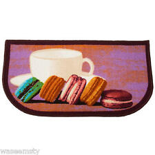 Slice Coffee Cup Cappuchino Macaroon Cookie Kitchen Small Rug Throw Accent Decor