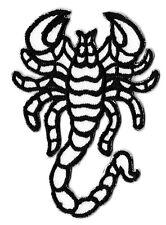 Ecusson patche scorpion blanc thermocollant brodé patch badge sublimation