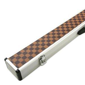 CHECK PIMPLE Economy Aluminium Snooker Cue Case – For 2 Piece Centre Joint Cue