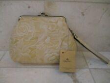 New ListingNwt Patricia Nash Savena Rattan White Wax Tooled Leather Wristlet Msrp $69.00