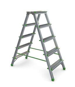 Alu Malerleiter Stehleiter Stufenstehleiter, 2-8 Stufen, Bis 150kg belastbar