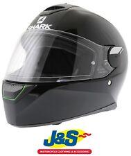 SHARK SKWAL doble casco de motocicleta LED Luz Moto Full Face Negro J&s