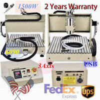 USB 6040 3 Axis CNC Engraver Router 1500W VFD Engraving Carving Milling Machine