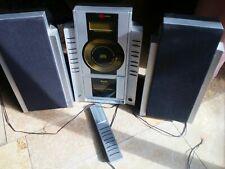 Tevion Mini Stereoanlage MCD, Lautsprecherboxen, Fernbedienung TOP! Wie neu!