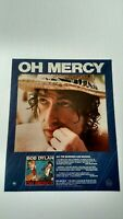 "BOB DYLAN  "" OH MERCY ""  (1989)  RARE ORIGINAL PRINT PROMO POSTER AD"