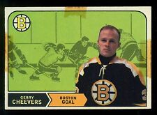 1968 69 OPC O PEE CHEE #140 GERRY CHEEVERS VG ON FRONT NM ON BACK  BOSTON BRUINS
