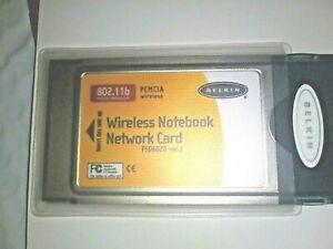 BELKIN F5D6020 VER.2 802.11b WIRELESS NOTEBOOK NETWORK CARD  PCMCIA