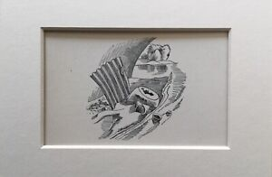 1939 John Nash Print 'MEN AND THE FIELDS' ADRIAN BELL (1ST) Mounted POLLUTION
